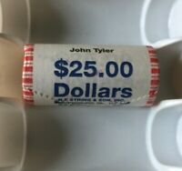 2009 JOHN TYLER DOLLAR PRESIDENTIAL 25 COIN UNCIRCULATED STRING ROLL UNOPENED