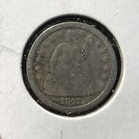 1842 10C SEATED LIBERTY DIME FINE DETAILS COIN LOTAF74