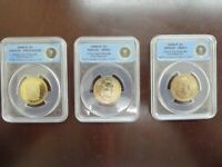 2009 SDP $1 TYLER PRESIDENTIAL 3 COIN SET - FIRST STRIKE LTD. EDITION - ANACS