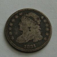 1831 CAPPED BUST DIME TEN CENT COIN