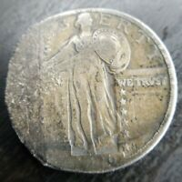 1920 D STANDING LIBERTY QUARTER VF EXTRA FINE  DETAILS STRONG PARTIAL DATE ROUGH PAST