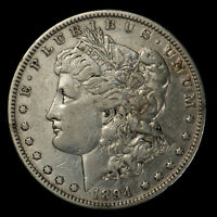 1894 MORGAN $1 SILVER DOLLAR  VF KEY DATE LOTX109