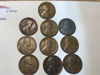 1940-1949-S MINT LINCOLN CENTS PENNIES, ALL 10 SAN FRANCISCO MINT