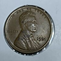 1921-P LINCOLN WHEAT CENT, AU TO MS CONDITION,LUSTER, BETTER DATE PENNY
