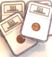 7- 1935-D NGC MINT STATE 65 RD LINCOLN CENTS- SEE OTHER  COIN LISTINGS