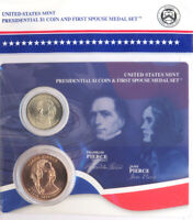 2010 FRANKLIN AND JANE PIERCE FIRST SPOUSE PRESIDENTIAL COIN & MEDAL SET