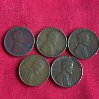 LINCOLN CENTS - 1918, 1929S, 1930S, 1934, 1939S
