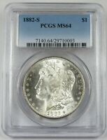 1882-S  PGCS MINT STATE 64 SILVER MORGAN DOLLAR $1 US COIN ITEM 24724A