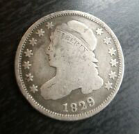 1829 CAPPED BUST DIME  GOOD VG SMALL 10C BEST AT THIS PRICE