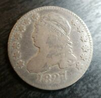 1827 CAPPED BUST DIME  GOOD VG  ORIGINAL PRETTY COIN ALMOST FINE F