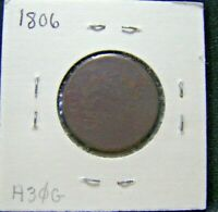 1806 HALF CENT AG PRICED TO SELL NO RESERVE H30G