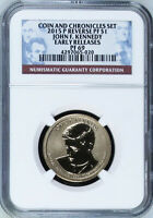 2015 S JOHN F KENNEDY COIN AND CHRONICLES DOLLAR NGC REVERSE PF 69 ER