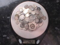 240G  PRE 1920 SILVER COINS  MIXED YEARS & GRADES