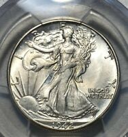 1942-D WALKING LIBERTY 50C HALF DOLLAR PCGS MINT STATE 65