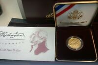 1999 W GEORGE WASHINGTON GOLD UNC $5 BICENTENNIAL COMMEMORAT