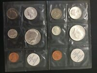 LOT OF 2 1964 UNCIRCULATED US MINT COIN SETS JFK SILVER COIN