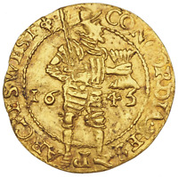 NETHERLANDS WEST FRIESLAND. GOLD DUCAT 1645 DELMONTE 963