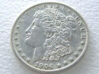 1904-S MORGAN DOLLAR, LUSTROUS SHINY  IN THIS CONDITION 7-9-G