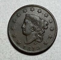 1819 CORONET HEAD LARGE CENT 1C