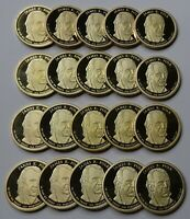 2009-S JAMES POLK PROOF PRESIDENTIAL DOLLARS - ROLL OF 20 DEEP CAMEO COINS