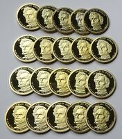 2010-S FRANKLIN PIERCE PROOF PRESIDENTIAL DOLLARS - ROLL OF 20 DEEP CAMEO COINS