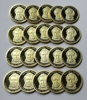 2009-S ZACHARY TAYLOR PROOF PRESIDENTIAL DOLLARS - ROLL OF 20 DEEP CAMEO COINS