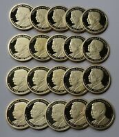 2013-S TEDDY ROOSEVELT PROOF PRESIDENTIAL DOLLARS - ROLL OF 20 DEEP CAMEO COINS