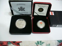 1997 10TH ANNIVERSARY SILVER PROOF LOON DOLLAR  2004 LUCKY LOONIE   .925 SILVER