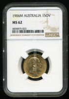 AUSTRALIA 1906 M GOLD COIN EVII SOVEREIGN   NGC CERTIFIED MS