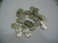 LOT OF 50  1964  CANADA SILVER COINS  DIMES  ROLL 10 CENTS   NOT JUNK  80