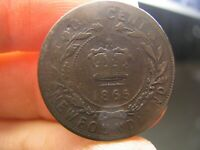CANADA NEWFOUNDLAND LARGE 1 CENT 1865 COIN VICTORIA