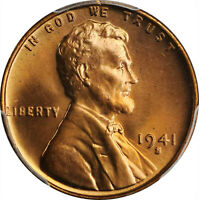 1941-S,1942-S LINCOLN WHEAT CENT BOTH PCGS MINT STATE 67 RD BLAZERS-1942-S HAS CAC LABEL