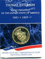 2007 S BU PROOF PRESIDENTIAL DOLLAR THOMAS JEFFERSON  $1 UNCIRCULATED COIN 5011