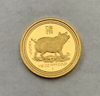 2007 AUSTRALIA PROOF $15 YEAR OF THE PIG 1/10 TROY OZ .9999