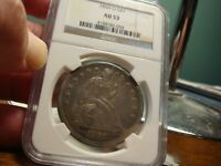 1859 O LIBERTY SEATED DOLLAR _ NGC AU 53 _ NO PROBLEMS HERE