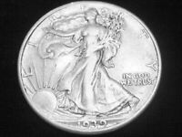 1941-S LIBERTY WALKING HALF DOLLAR -- ALMOST UNCIRCULATED