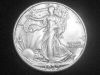 1939 LIBERTY WALKING HALF DOLLAR -- EXTRA FINE