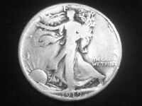 1919 LIBERTY WALKING HALF DOLLAR -- FINE