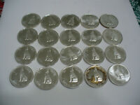 LOT OF 20 1967  CANADA  HALF  DOLLAR  SILVER  COINS  67  CENT  PIECE   WOLF