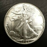 1946 WALKING LIBERTY HALF DOLLAR UNCIRCULATED OR MS MINT STATE SILVER 50C