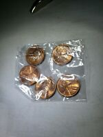 LINCOLN WHEAT CENT CENTS GEMBU UNCIRCULATED1950-P,1951-D,1954-D,1956-D,1958-P