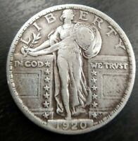1920P STANDING LIBERTY QUARTER STRONG FULL DATE  FINE EXTRA FINE  EF ALMOST AU