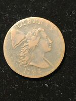 1794 LARGE CENT - SHELDON 21 - HEAD OF 1794