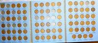 1909-1940 LINCOLN CENT COLLECTION  NEAR COMPLETE WHITMAN FOLDER LN75 JUNK 1909S
