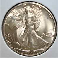 1947 D SILVER WALKING LIBERTY HALF UNUSUAL MINTMARK NICE EYE