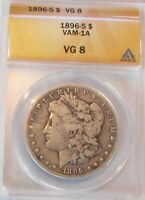 1896S MORGAN DOLLAR VAM-1A