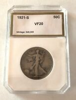 1921-S VF 20 SILVER HALF DOLLAR MINTAGE ONLY 548,000- SEE OTHER COIN LISTINGS