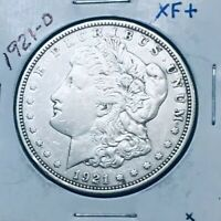 1921-D MORGAN DOLLAR ONLY MORGAN MINTED IN DENVER BETTER DATE EXTRA FINE