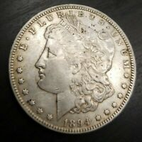 1894 O MORGAN SILVER DOLLAR KEY DATE ABOUT UNCIRCULATED ALMOST MS UNC