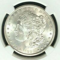 1898-O MORGAN SILVER DOLLARNGC MINT STATE 63 BEAUTIFUL COIN REF58-023
